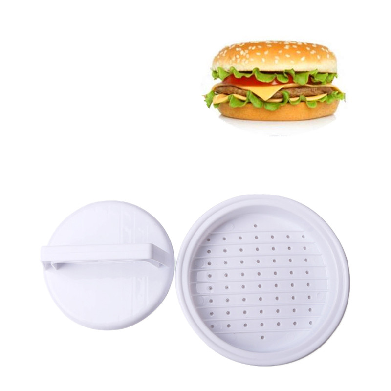 New 1 Set DIY Hamburger Meat Press Tool Patty Makers Meat Burger Maker Mold  Food