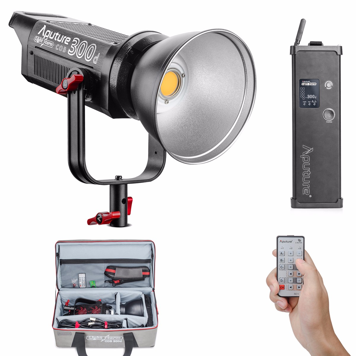 Aputure COB C300D 300D 300W 5500K Daylight Balanced LED Continuous Video Light CRI95+ TLCI96+ 2.4G Remote Control 18dB Low Noise aputure ls c300d cri 95 tlci 96 48000 lux 0 5m color temperature 5500k for filmmakers 2 4g remote aputure light dome mini