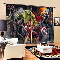 Cartoon comics Heroes 3D Blackout Curtains Healthy non pollution Digital Print Customiz Design Tablecloth Shower Curtain Bedding