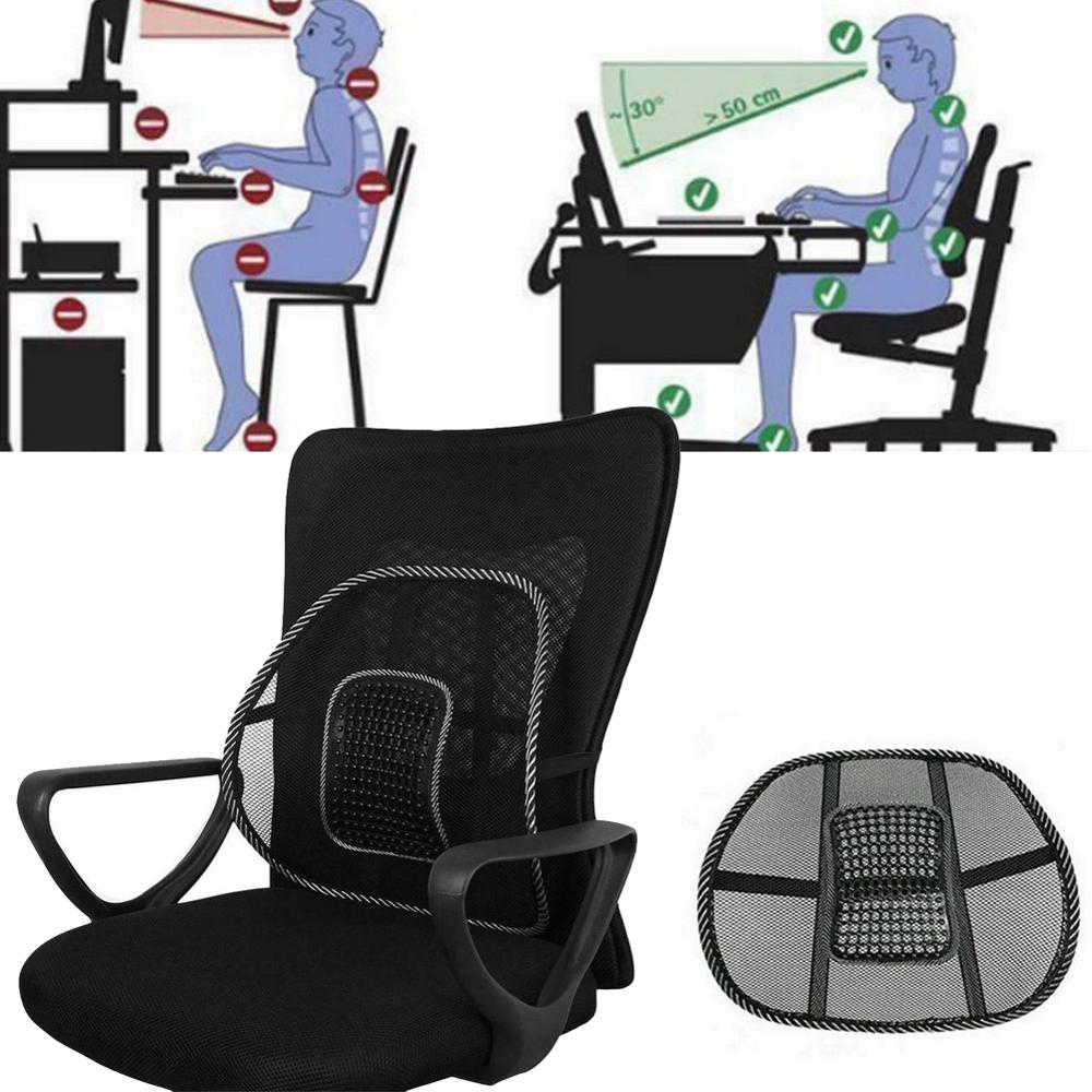 Lumbar Pillow Support Seat For Office And Car To Relieve Stress And Back Pain 2