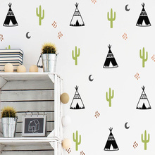 Diy Tribal Tent Wall Stickers Personalized Creative For Kids Living Babys Rooms House Decoration Mural Custom