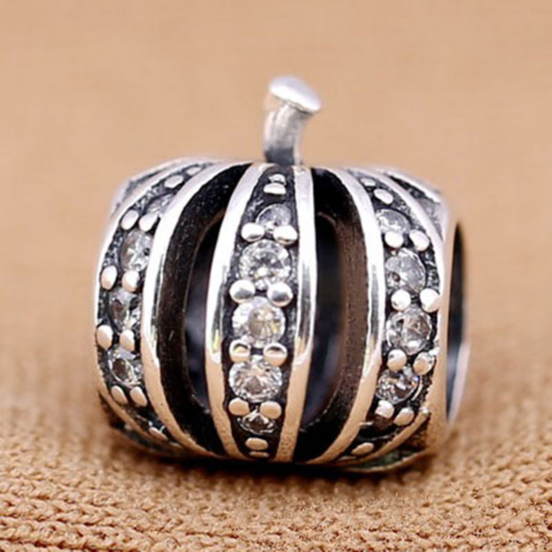 High Quality 925 Sterling Sliver Bead Charm Lovely Pumpkin Shape Small Crown Beads Fit PAN Bracelets & Bangles DIY Jewelry