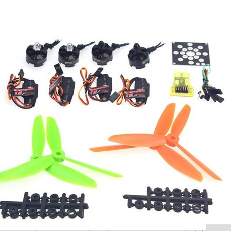 High Quality Helicopter Kit KV2300 Brushless Motor+12A ESC+Straight Pin Flight Control+FC6x4.5 Propeller for 250 Helicopter naza m v2 flight control
