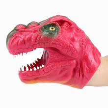 цена на New Arrival Red Soft TPR Dinosaur Hand Puppet Tyrannosaurus Rex Head Hand Puppet Figure Gloves Toys Children Toy Model Gift