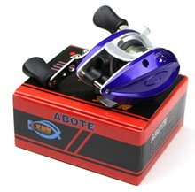 Free Shiping Bait Casting 3.5:1 Ratio Powerful 1000 Gear Lure Reel baitcasting Right hand Reel Bag Low Profile  Fishing Tackle