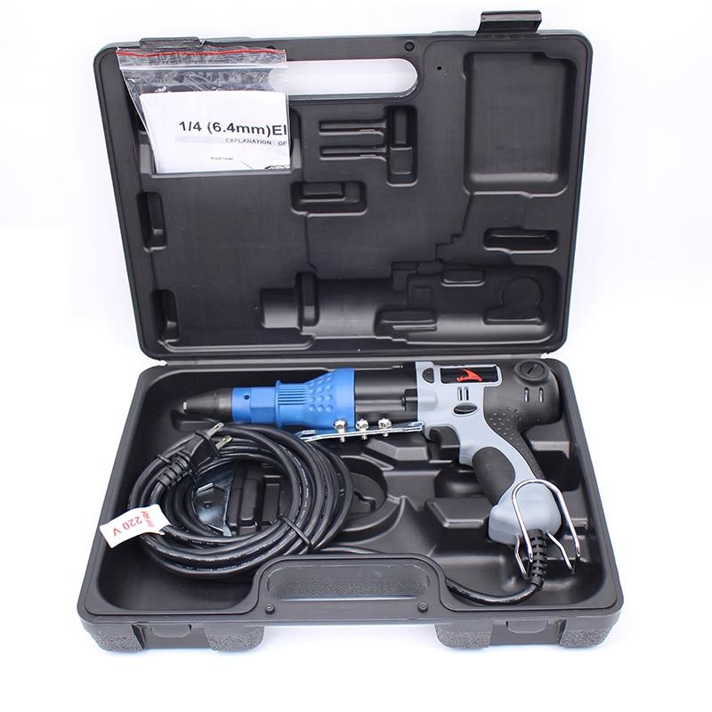 Kiváló minőségű 220V 3,2-4,0-4,8-6,4 mm-es szegecselő pisztoly elektromos szegecselő szerszám, Tajvanon