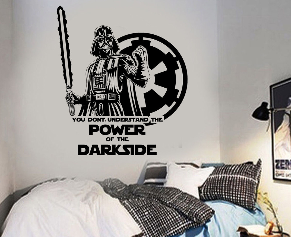 Grote Posters Slaapkamer : Grote star wars darth vader vinyl muur art sticker kamer