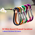 10PC/Lot 5# Aluminum Alloy Mini Gourd Shaped Carabiner Spring Clip Buckle Mosqueton For Outdoor Camping Hiking EDC Tool AA14-10P
