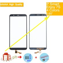 For Huawei P Smart FIG-LX1 LX2 FIG-L21 FIG-L22 Enjoy 7S Touch Screen Panel Sensor Digitizer Front Glass Outer Touchscreen