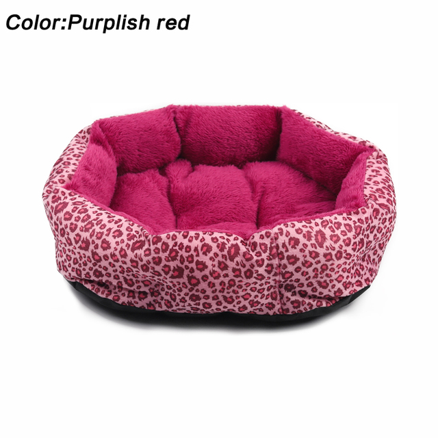 Hot sales! NEW! Colorful Leopard print Pet Cat and Dog Bed Pink, Yellowish brown, Purplish red, Brown, Gray, Yellow SIZE M,L 2