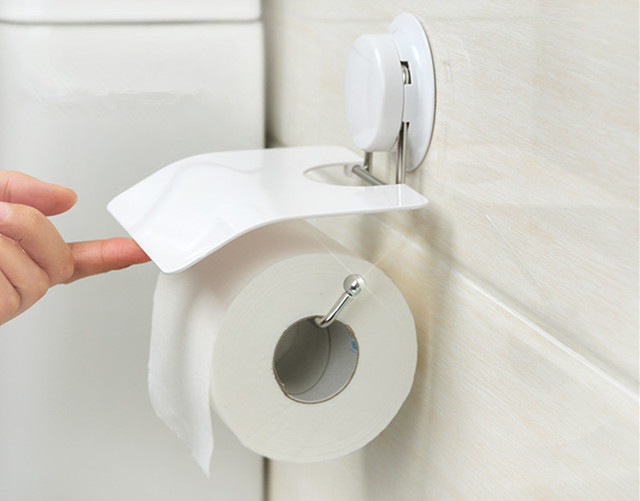 Toilet Accessoires Set : Toilet paper holder modern plastic waterproof toilet roll holder