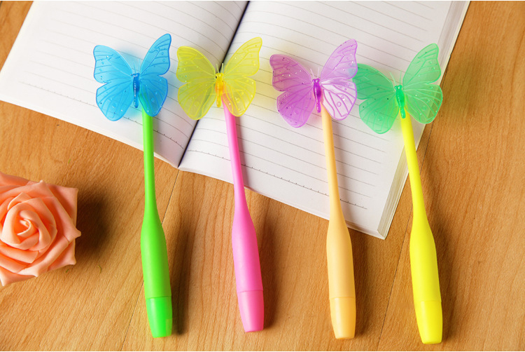 colorful office accessories. Aliexpress.com : Buy 4pcs Per Lot Colorful Soft Twist Butterfly Ballpoint Pen Children Gift Cartoon Finger Office Supplies School Accessories From