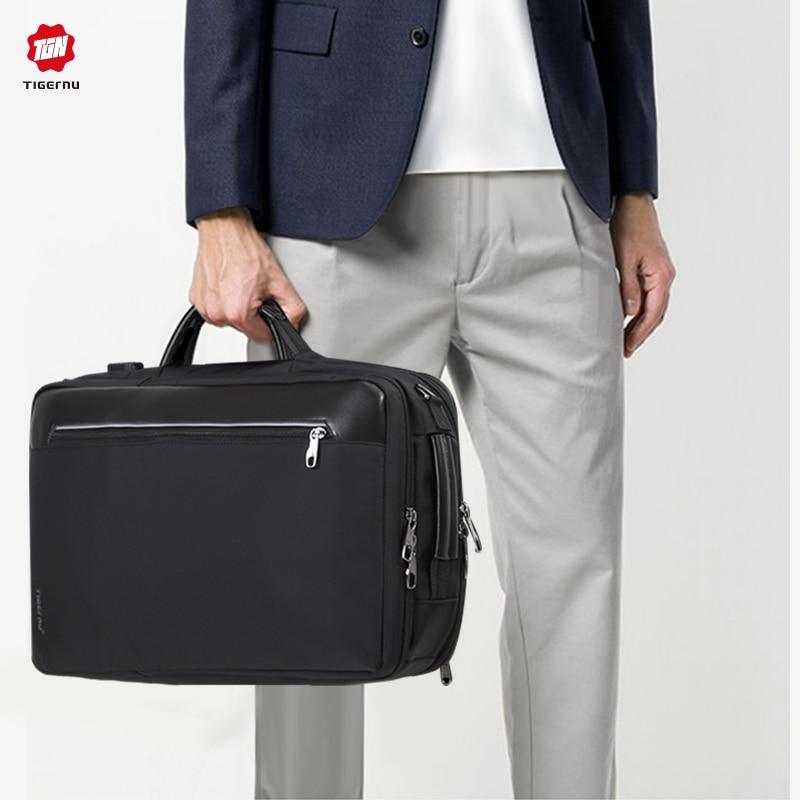 Tigernu 4 en 1 Multi fonction Nylon hommes affaires épaule sacs à dos 15.6 pouces USB charge sacoche pour ordinateur portable mâle Mochila voyage