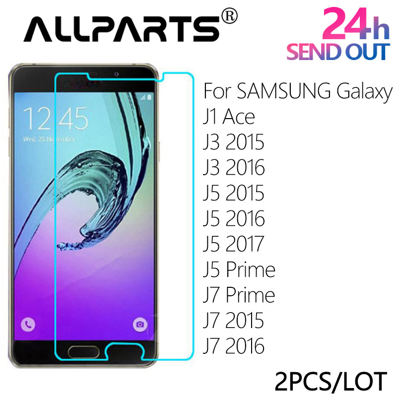 2 PCS/LOT ALLPARTS 2.5D Anti-Explosion Tempered Glass Screen Protector For SAMSUNG Galaxy J1 Ace J3 2016 J5 2015 J7 Prime 2017