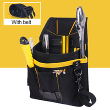 24*14*4cm 600D High Density Waterproof Oxford Black Car Wrapping Tool Bag Backpack Tool Bag With Belt MO-304