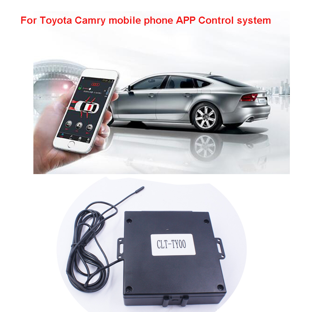 For Toyota Camry Car engine start Stop mobile phone APP Control system one push button and PKE Keyless Entry Year 2010 2018 in Burglar Alarm from Automobiles Motorcycles