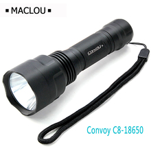 LED Flashlight Waterproof Convoy C8 Cree Diving Hunting Torch Battery 18650 Lantern LED Torche Light Outdoor Camping Flash Lamp