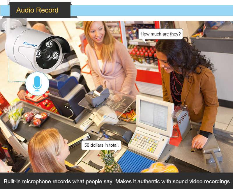 """Techage 8CH 1080P Беспроводной NVR комплект WiFi CCTV система 12 """"ЖК монитор экран 2MP уличная инфракрасная камера видеонаблюдения комплект видеонаблюдения"""