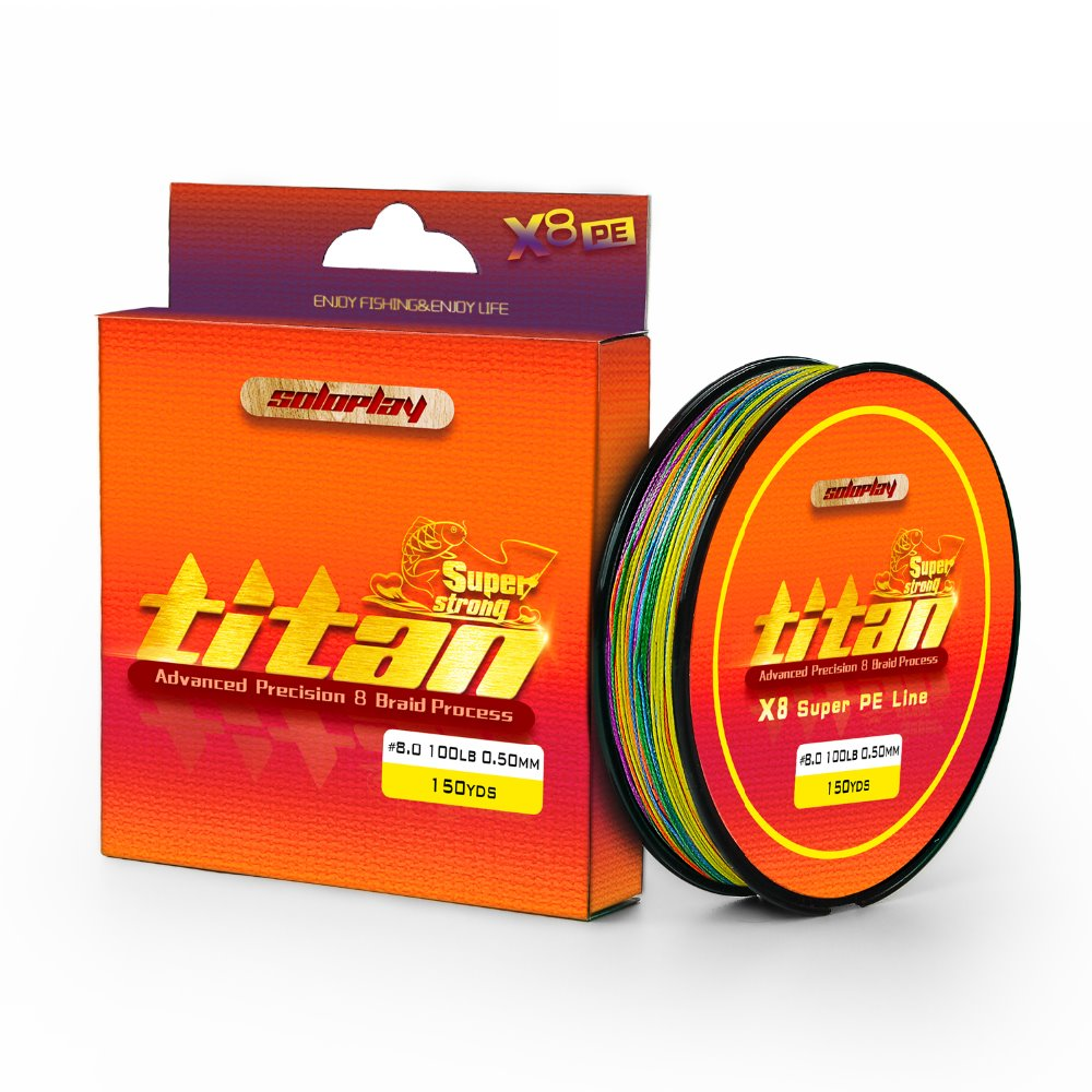 Fishing Line, SOLOPLAY 150YDS/137m 1 Meter 1 Color Extreme Strong 8 ...