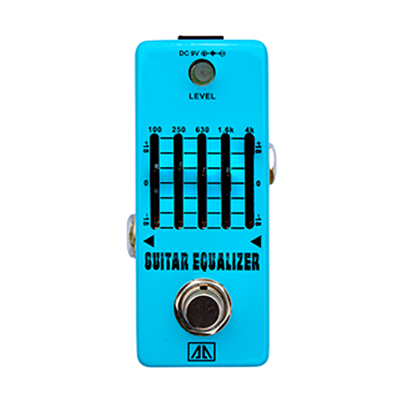 5-band Guitar Equalizer Guitar Effect Pedal 18dB gain range Analogue Effects for Electric Guitar True bypass AA Series aroma adr 3 dumbler amp simulator guitar effect pedal mini single pedals with true bypass aluminium alloy guitar accessories