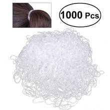 1000pcs Disposable Elastic Bands Hair Rubber Bands for Kids Hairstyle (White)(China)