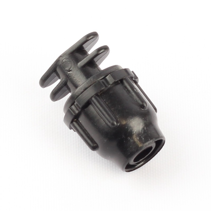 10pcs 8/11mm Thread Locked Hose End Connector for Irrigation Garden Veg Plot Planter Drip Flower Mist Spraying System Pipe End