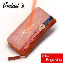 Новые дизайнерские Для женщин кожаные кошельки мода женский кошелек сумочка-клатч из натуральной кожи портмоне на молнии для девочек с держатель для карт