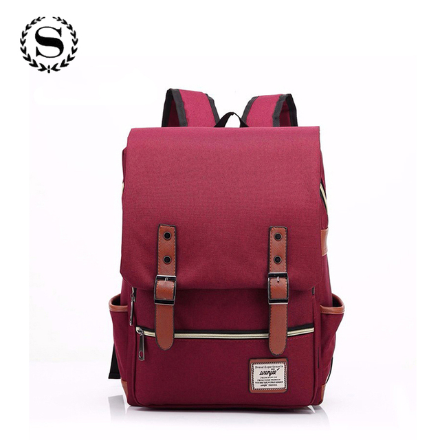 2017 Canvas Casual Vintage Large Capacity Travel Bag Hipster Laptop Computer Rucksack Package Men Daily Backpacks Daypacks 1050t