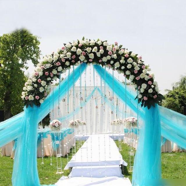 HAOCHU 0.75*10M Sheer Crystal Organza Fabric Wedding Mariage ...