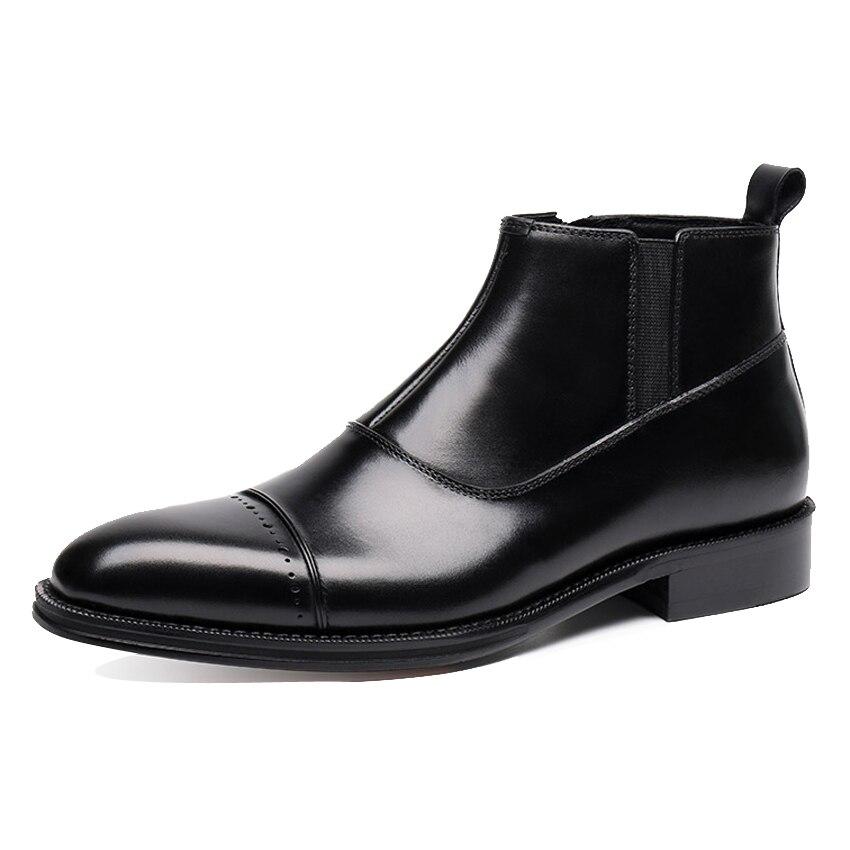 Chelsea Preto Ankle Ymx240 Esculpida High Equitação Couro Dedo Artesanal Cowboy De Sapatos Do marrom Dos Genuíno Homem Homens Apontado Vintage top Boots Martin 1q8SR1r