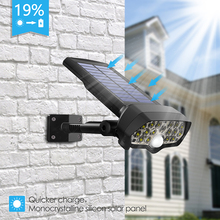 Shark LED Solar Light PIR Motion Sensor Powered Waterproof  Lamp For Outdoor Garden Wall