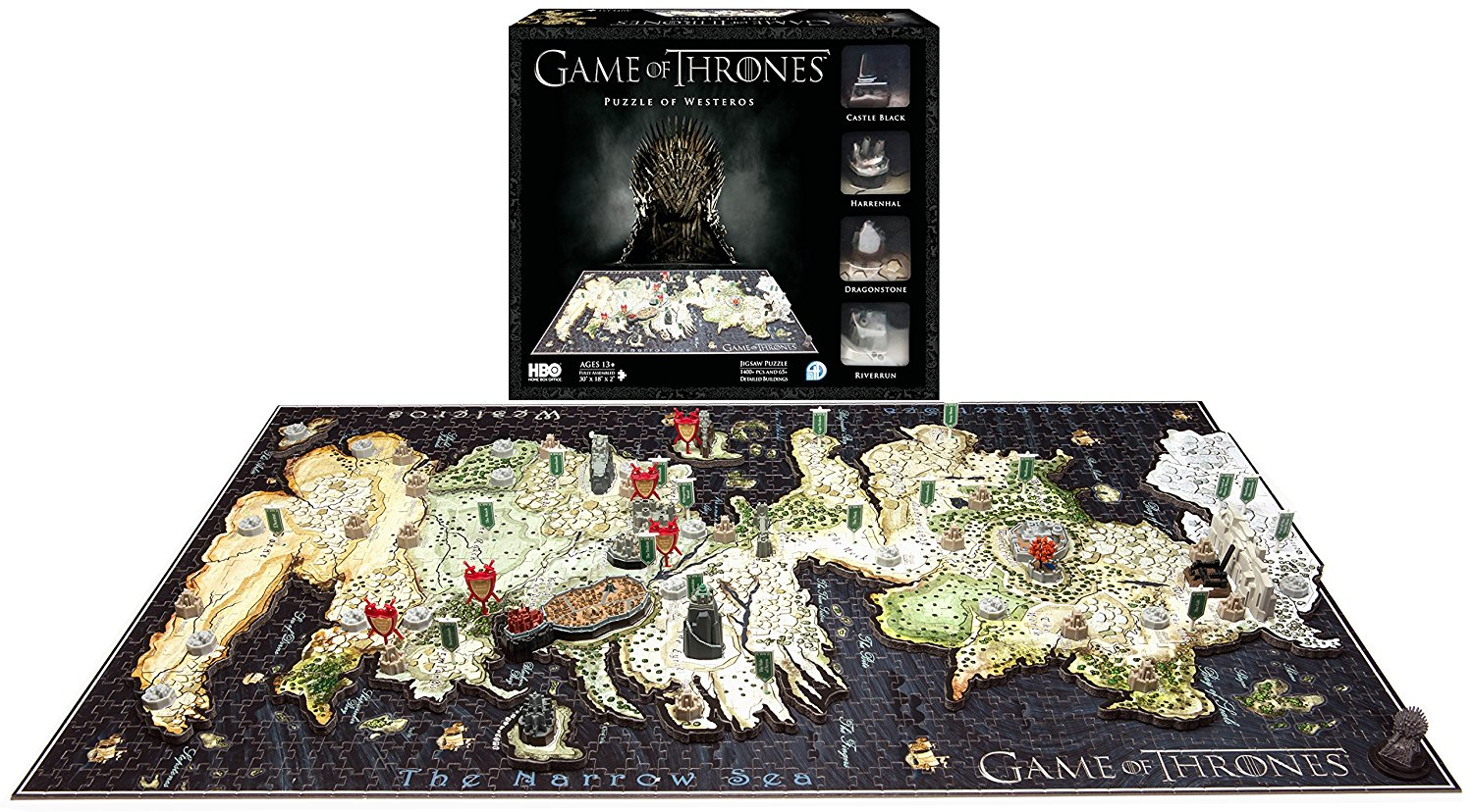 Game of Thrones 3D Puzzle of WESTEROS Toys 1400+ pcs lady s vol 3 game of fools
