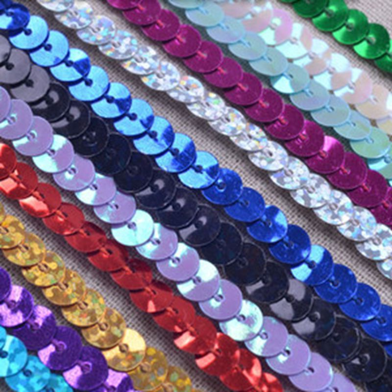 BUY 2 GET 1 FREE 100 x Large BLUE Sequin Shapes Flat Sewing Trim Costume Craft