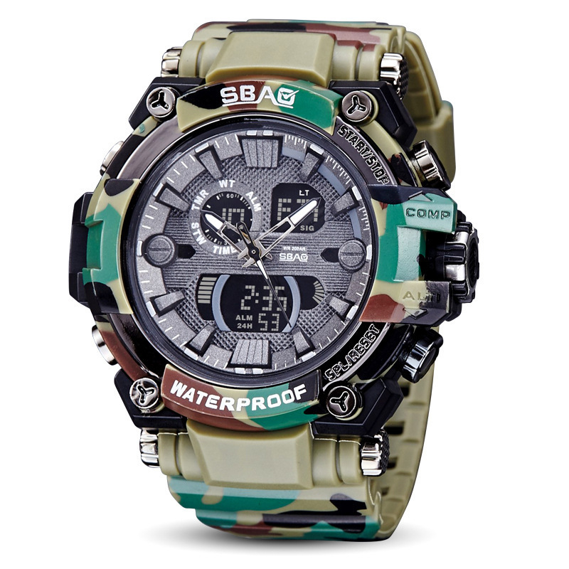 SBAO Electronic Mens Multi-function Fashion Outdoor Camouflage Wrist Watch Men Sport Watches For Orologi Montre HommeSBAO Electronic Mens Multi-function Fashion Outdoor Camouflage Wrist Watch Men Sport Watches For Orologi Montre Homme