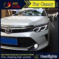 Бесплатная доставка! стайлинга автомобилей LED HID Рио СВЕТОДИОДНЫЕ фары Головной Лампы для Toyota Camry V55 2015 Би-Ксеноновые Линзы низкой луч