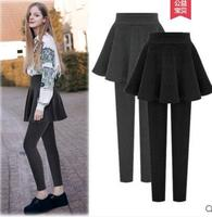 New fashion women legging 2018 autumn winter warm elastic high waist Skirts pants womens plus size Patchwork skinny legging 5XL