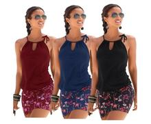 Women Dress Summer 2019 Fashion Sexy Casual Sleeveless Retro Halter Print Beach Mini Dresses