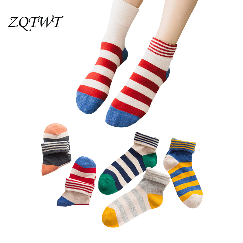 ZQTWT 5Pair/Lot  Women Socks Cute Cat Lovely Funny Socks Casual Striped Cotton Socks Cat Fashion Cute Female Sock Hosiery 3WZ072