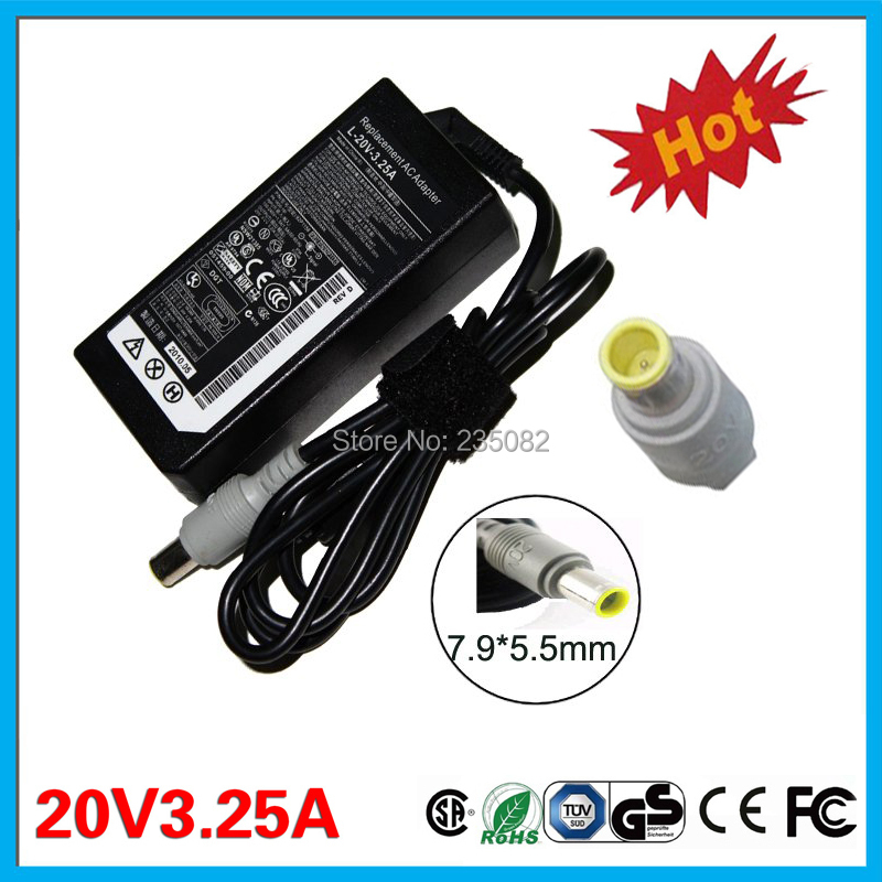 Genuine Lenovo T530 65W 20V 3.25A AC Power Adapter Charger 92P1156 42T5282
