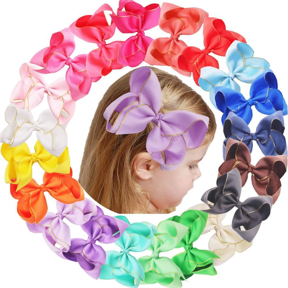 Alligator hair clips Paw print hair bows Baby girl hair accessories Puppy hair bows Dog hair clips Nylon headbands Dog hair bows
