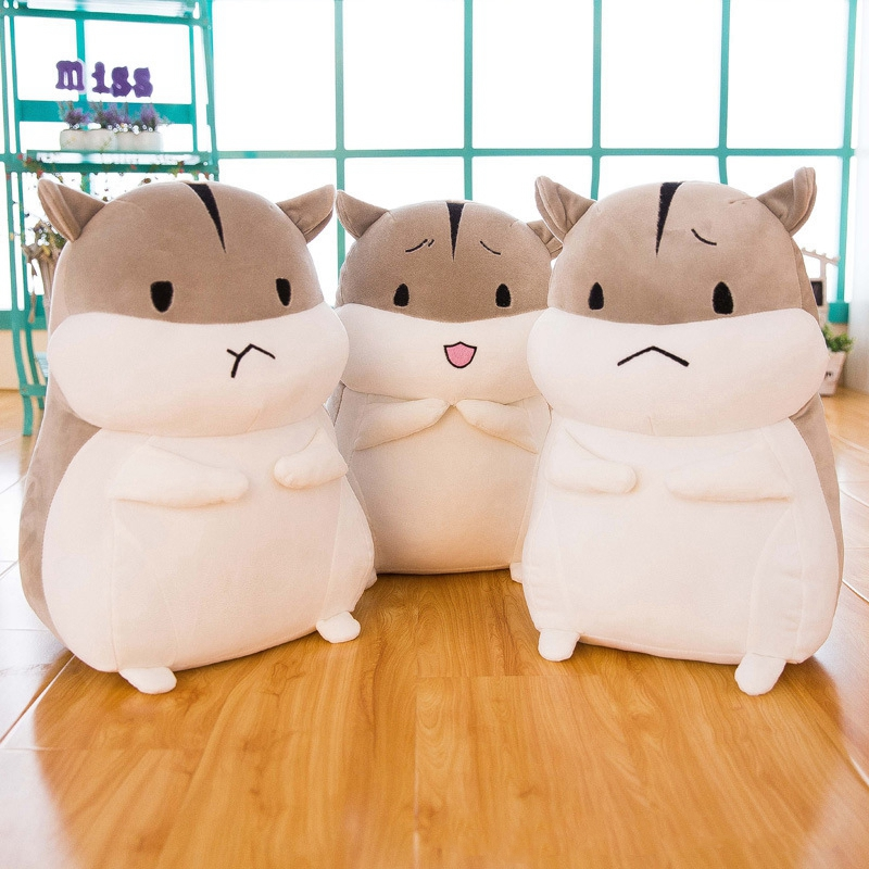 25cm Plush Toys Cute Fat Hamster With Emotions Plush Animal Soft Stuffed Dolls Kawaii Hamster Toy For Children Kid Birthday Gift