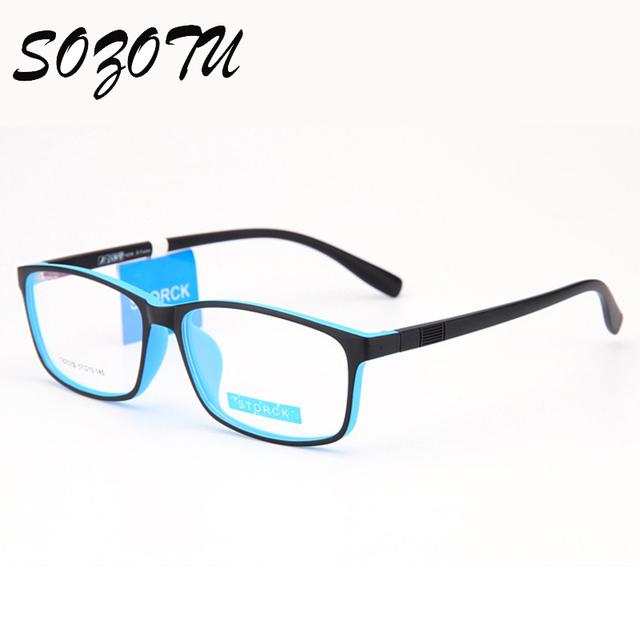 Transparente óptico Marco de los vidrios Hombres Mujeres Ordenador Miopía Gafas de Montura de gafas Para mujeres Hombres Lente Transparente Gafas YQ210