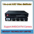 Free Shipping 1 In 4 Out AHD Video Distributor Amplifier 1CH To 4CH Splitter For CCTV Security Camera DVR System
