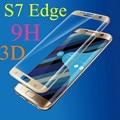 5 шт. 9 H Покрытие Черный/Золото/Серебро Полный Крышка Из Закаленного Стекла Для Samsung Galaxy S7 Edge G9350 Взрывозащищенный Протектор Экрана