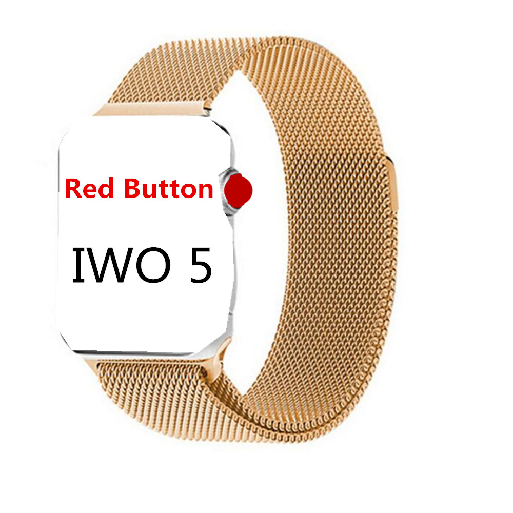 IWO 5 Smart Watch 42mm MTK2502C IWO 3 Upgrade Smartwatch Heart Rate Monitor Bluetooth Notifier Watch W53 for IOS Android phone