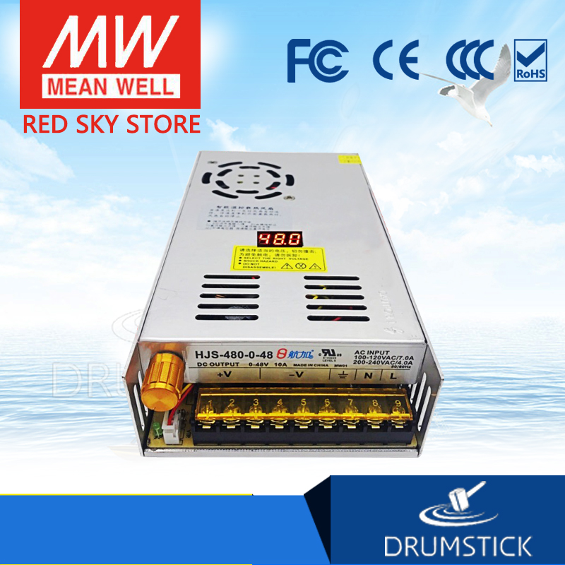Sales promotion adjustable DC voltage regulator digital display switching power supply 0-48V10A480W air plus HJS-480-0-48