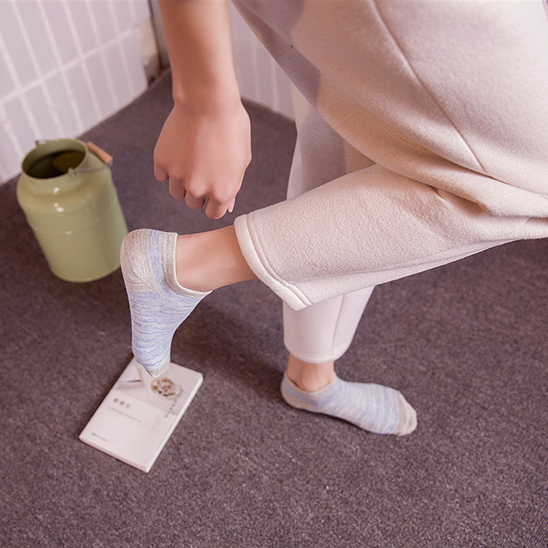 1 pair Candy Summer Comfortable Casual Cotton Cute Kawayi Girl Ankle Socks Durable Shallow Invisible Striped Female Sock Hosiery in Socks from Underwear Sleepwears