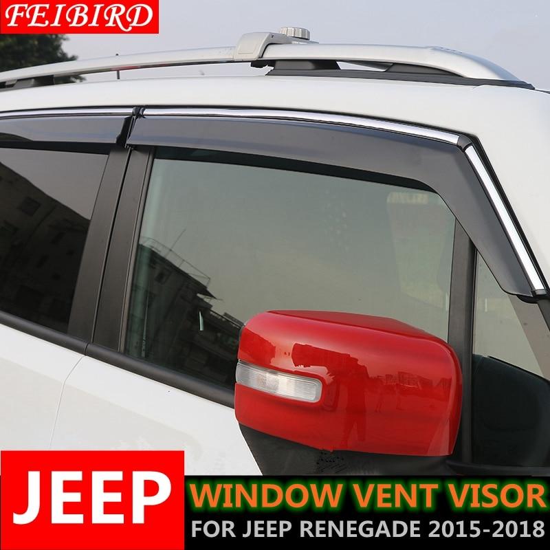 Jeep Renegade Wind Rain Deflector Front 2/Piece Kit 2014