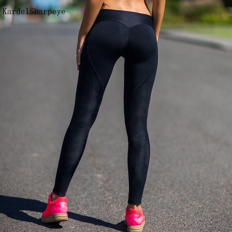 Yoga Pants Black High Waist Workout