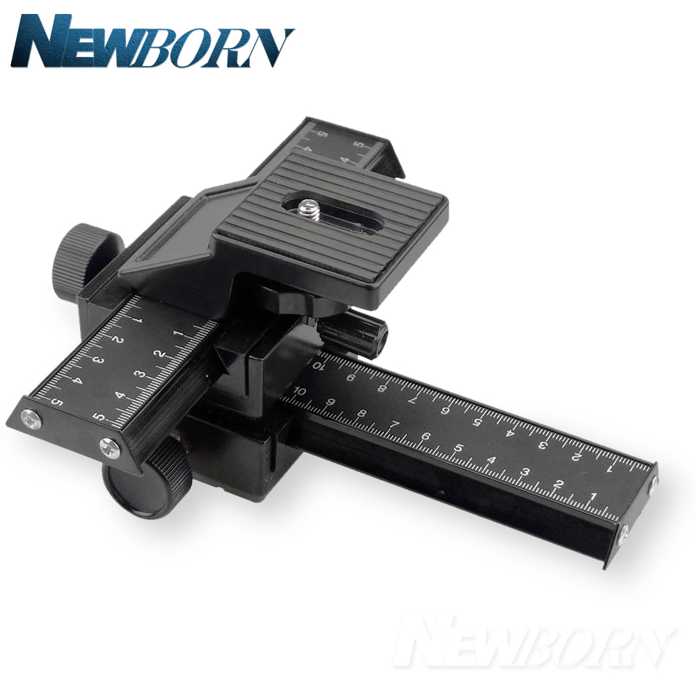 New Macro Focusing Rail Slider Gimbal for Nikon Canon Sony DSLR Camera Gimbal Mount DC with Standard 1/4 Screw